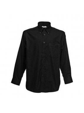 Pánská košile (FRUIT OF THE LOOM Long Sleeve Oxford Shirt )>černá>XL