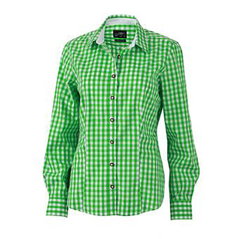 Dámská košile (J N LADIES  TRADITIONAL SHIRT) zelená   bílá S ... 1b46b5d19e