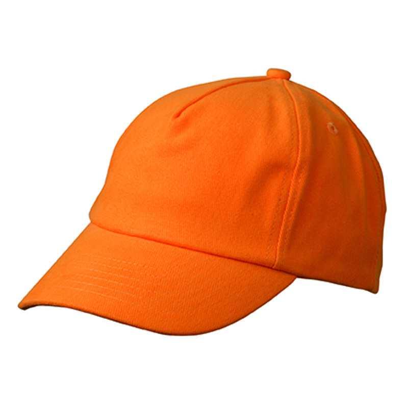 693d480354e 5 panelová kšiltovka (MB 5 Panel Kids  Cap) oranžová - Reklamní ...