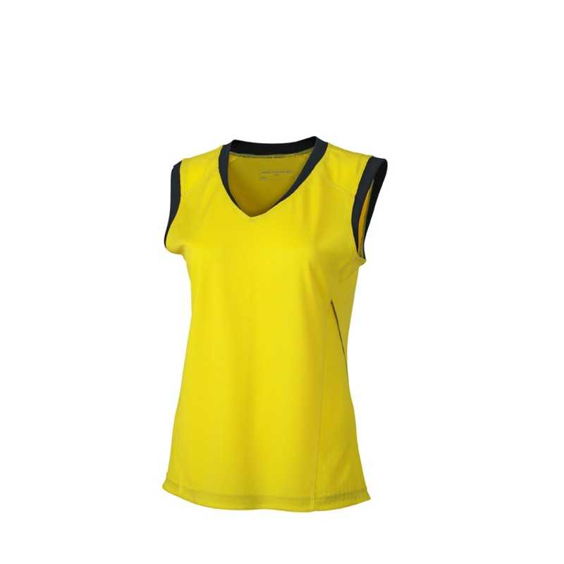 Dámské tričko (JN Ladies  Running Tank) zelená (lemon)   šedá (iron ... 9d117c897d