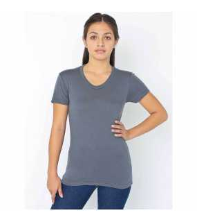 Dámské triko (AMERICAN APPAREL WOMEN'S POLY-COTTON SHORT SLEEVE T-SHIRT)>šedá (asphalt)>S