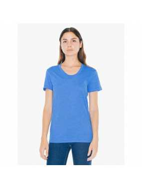 Dámské triko (AA WOMEN'S POLY-COTTON SHORT SLEEVE T-SHIRT)>modrá (heather lake)>XL