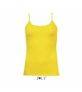 Dámské tílko(SOLS JOY WOMENS TANK TOP WITH SPAGHETTI STRAPS)>žlutá (lemon)>XL