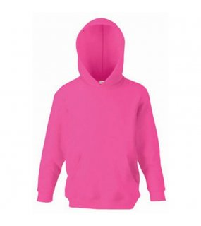 Dětská mikina (FRUIT OF THE LOOM Kids Hooded Sweat)>růžová (fuchsia)>7/8