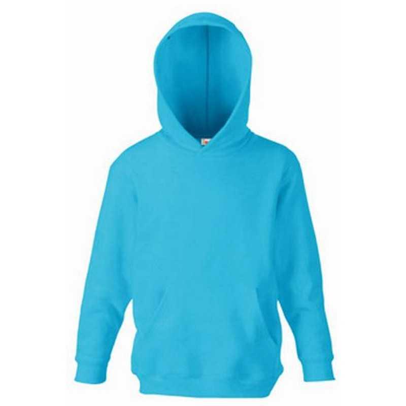 Dětská mikina (FRUIT OF THE LOOM Kids Hooded Sweat) modrá (azur) 7 8 ... d9a3ae1d11
