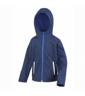 Dětská bunda (RESULT Core Youth Hooded Soft Shell)>modrá (navy) / modrá (royal)>XL