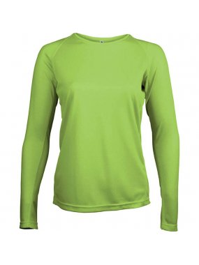 Dámské tričko(PROACT LADIES LONG SLEEVE SPORTS T-SHIRT)>zelená (lime)>L