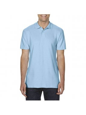 "Unisex polokošile (Gildan ""SOFTSTYLE® ADULT DOUBLE PIQUÉ POLO"")>modrá (light)>3XL"