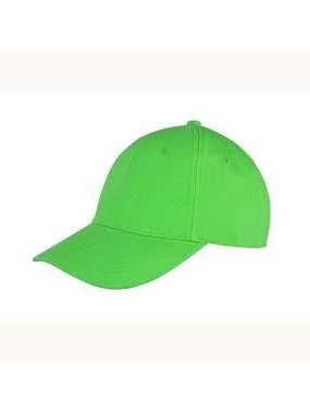 8c1f87992b8 RESULT 6 panelová kšiltovka (RESULT Memphis Brushed Cotton Low Profile Cap)  zelená (lime