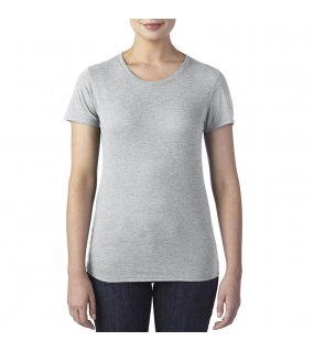 Dámské triko (ANVIL WOMEN'S TRI-BLEND TEE)>šedá (heather)>M