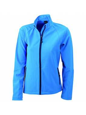 Dámská softshell bunda (JN Ladies' Softshell Jacket)>modrá (azur)>M
