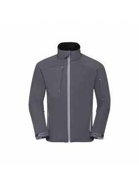 Pánská softshell bunda(RUSSELL COLLECTION Mens Bionic Softshell Jacket)>šedá (iron)>3XL
