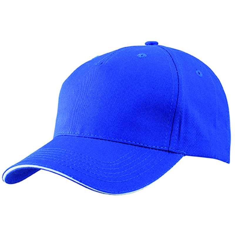 b24b2a41e05 5 panelová kšiltovka (MB 5 Panel Sandwich Cap) modrá (royal)   bílá ...