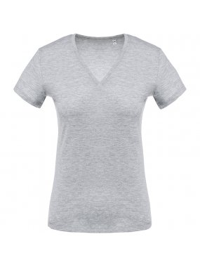 Dámské triko (KARIBAN LADIES 'Vneck SHORT SLEEVE T-SHIRT)>šedá (oxford)>2XL