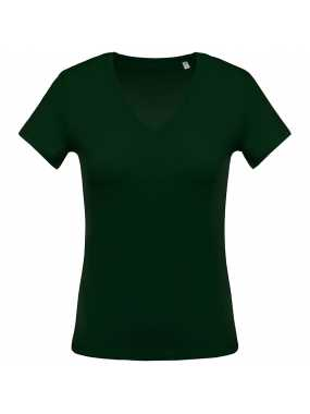Dámské triko (KARIBAN LADIES 'Vneck SHORT SLEEVE T-SHIRT)>zelená (forest)>3XL