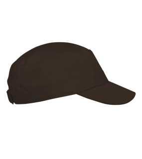 14020686ba6 3 panelová kšiltovka(KARIBAN ARMY STYLE CAP) hnědá (chocolate)