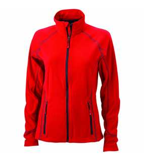 Dámská fleece bunda (JN Ladies' Structure Fleece Jacket)>červená / šedá (carbon)>M