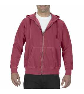 "Unisex mikina (Comfort Colors ""ADULT FULL ZIP HOODED SWEATSHIRT"")>červená (crimson)>XL"