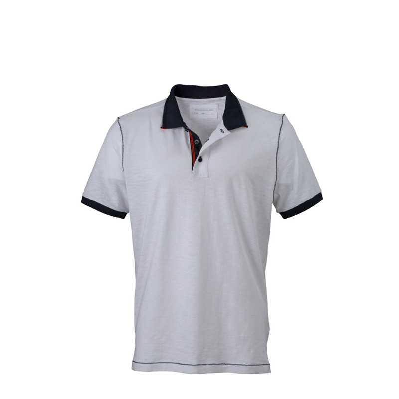 Pánská polokošile (JN Men s Urban Polo) bílá   modrá (navy) 2XL ... 24150f67a9