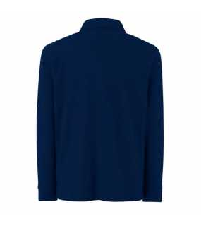 Dětská polokošile (FRUIT OF THE LOOM Kids Long Sleeve 65/35 Polo )>modrá (deep navy)>7/8