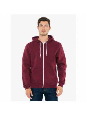 Unisex mikina(AA UNISEX SALT AND PEPPER HOODED ZIP SWEAT)>červená(peppered cranberry)>XL