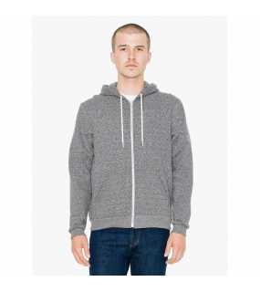 Unisex mikina (AA UNISEX SALT AND PEPPER HOODED ZIP SWEATSHIRT)>šedá (peppered)>M