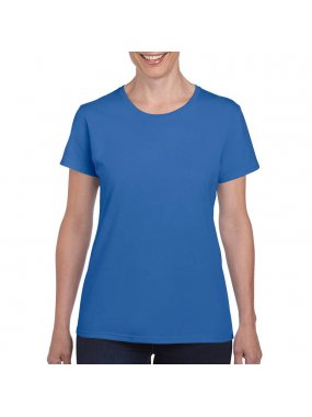 Dámské triko (Gildan HEAVY COTTON LADIES T-SHIRT)>modrá (royal)>XL