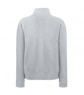 Pánská mikina (FRUIT OF THE LOOM Zip-Neck Sweat )>šedá (heather)>XL