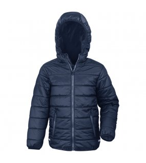 Dětská bunda(RESULT JUNIOR PADDED JACKET)>modrá (navy) / modrá (royal)>XL
