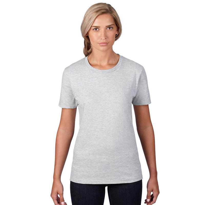 Dámské triko (ANVIL WOMENS FASHION BASIC TEE)>šedá (heather)>L