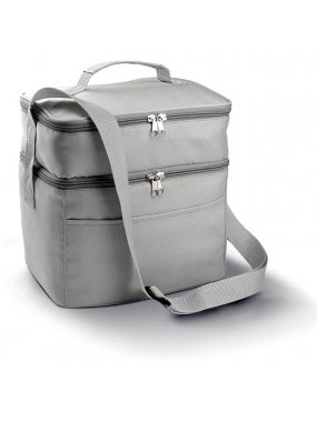 Chladící taška(KIMOOD DOUBLE COMPARTMENT COOLER BAG)>šedá (light)