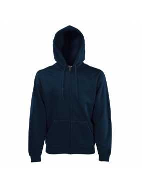 Pánská mikina (FRUIT OF THE LOOM Hooded Sweat Jacket )>modrá (deep navy)>S