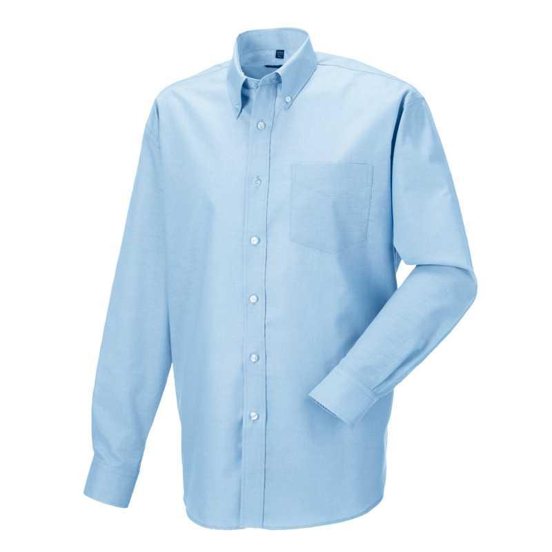 ff832aeceba Pánská košile (Long Sleeve Easy Care Oxford RUSSELL) modrá (oxford) 4XL