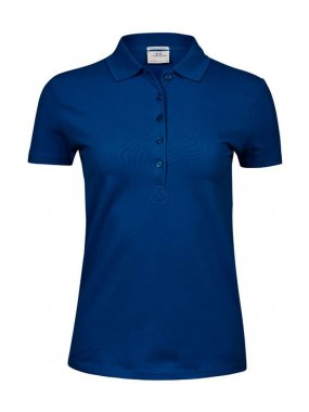 Dámská polokošile(TEE JAYS ladit'S LUXURY STRETCH POLO)>modrá (indigo)>M