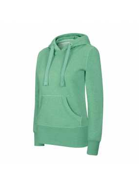 Dámská mikina(LADIES' MELANGE HOODED SWEATSHIRT KARIBAN)>zelená (heather)>M