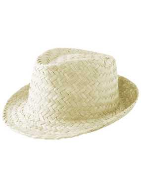 0b00111068b Slaměný klobouk  zelená (limet) - Reklamní předměty