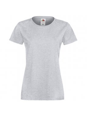 Dámské tričko (FRUIT OF THE LOOM Lady-Fit Sofspun Tee)>šedá (heather grey)>XS