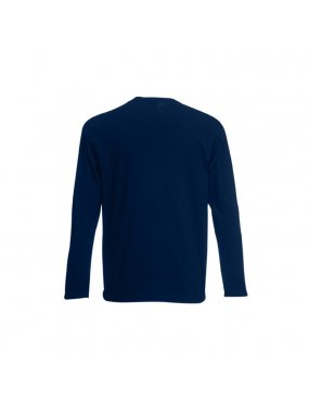 Pánské triko(FRUIT OF THE LOOM Valueweight Long Sleeve T)>modrá (deep navy)>3XL