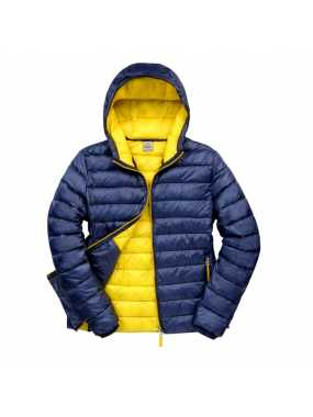 Pánská bunda (RESULT Mens Snow Bird Hooded Jacket)>modrá (navy) / žlutá>XL