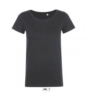 Dámské triko (SOL'S MIA WOMEN'S ROUND-NECK Fitted T-SHIRT)>šedá (mouse)>2XL