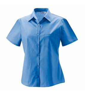 Dámská košile (Short Sleeve PolyCotton Easy Care Poplin RUSSELL)>modrá (corporate)>XL