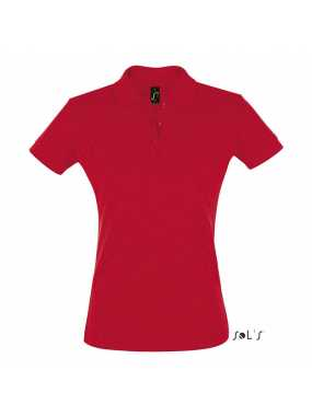Dámská polokošile(SOLS PERFECT WOMENS SHORT SLEEVES POLO)>červená>L
