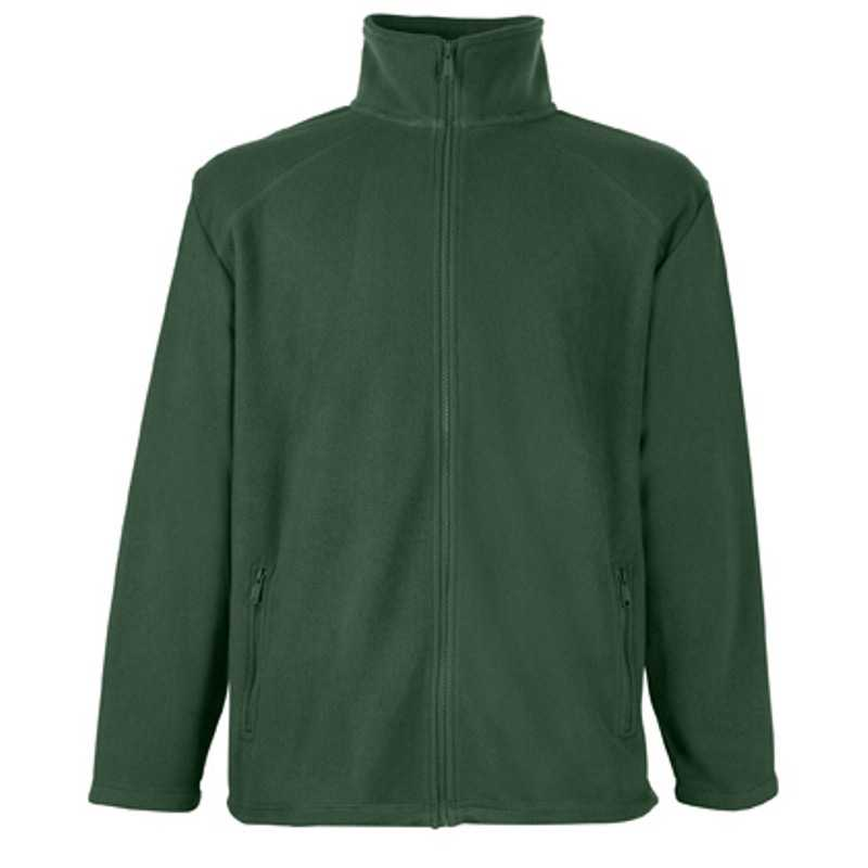 Pánská flecee bunda (FRUIT OF THE LOOM Full Zip Fleece )>zelená (bottle)>2XL