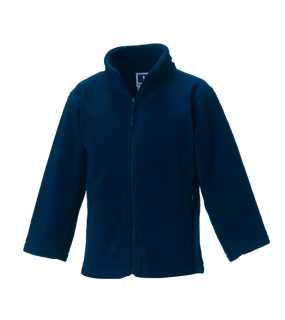 Dětská fleece bunda (Full Zip Outdoor Fleece RUSSELL)>modrá (frenchnavy)>7/8
