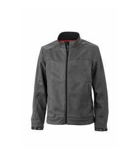 Pánská softshell bunda (JN Men s Softshell Jacket) šedá (darkmelange) XL 9e1a93153f