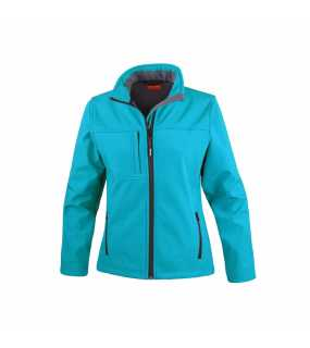 Dámská bunda (RESULT LADIES CLASSIC SOFT SHELL JACKET)>modrá (azure)>M