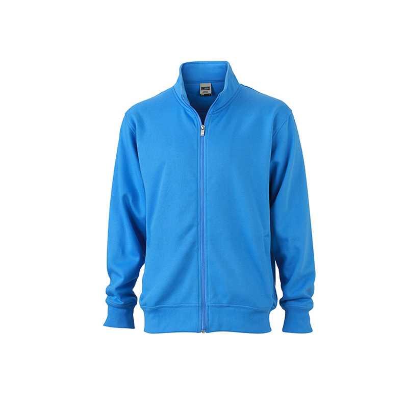 Pracovní mikina (JN Workwear Sweat Jacket) modrá (aqua) 4XL ... 4a674ea73a