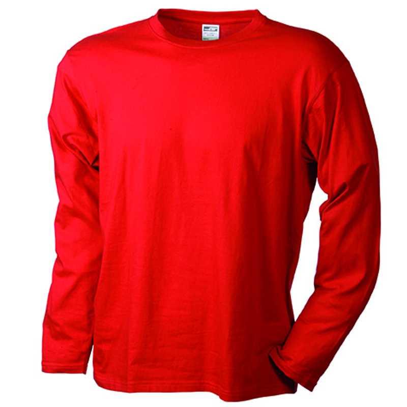Pánské tričko (JN Men s Long-Sleeved Medium) červená M. reklamní předměty  ... ff0dda7dbf