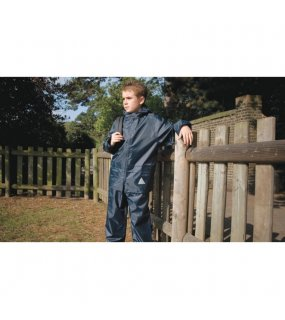Dětská souprava (RESULT JUNIOR WATERPROOF JACKET AND TROUSERS)>modrá (navy)>S