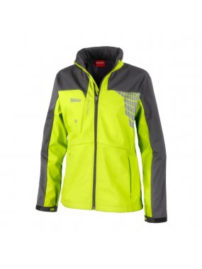 Dámská bunda (SPIRO LADIES TEAM 3-LAYER SOFT-SHELL JACKET)>zelená (limet) / šedá>M
